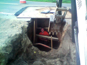 Photo Of Excavation Work In Bedford, MA - Ferrante Construction Corp